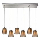 ELK Cubico 6 Light Pendant in Satin Nickel EK-31143-6RC