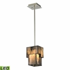 ELK Cubist Collection 1 Light Mini Pendant in Brushed Nickel - Led EK-72072-1-LED