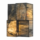 ELK Cubist Collection 2 Light Sconce in Brushed Nickel EK-72070-2