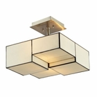 ELK Cubist Collection 2 Light Semi Flush in Brushed Nickel EK-72061-2