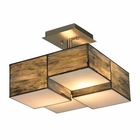 ELK Cubist Collection 2 Light Semi Flush in Brushed Nickel EK-72071-2