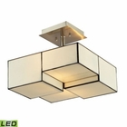 ELK Cubist Collection 2 Light Semi Flush in Brushed Nickel - Led EK-72061-2-LED