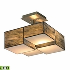 ELK Cubist Collection 2 Light Semi Flush in Brushed Nickel - Led EK-72071-2-LED