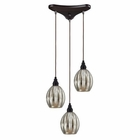 ELK Danica 3 Light Pendant in Oiled Bronze EK-46007-3