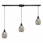 ELK Danica 3 Light Pendant in Oiled Bronze EK-46007-3L