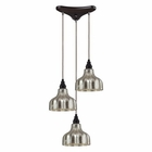 ELK Danica 3 Light Pendant in Oiled Bronze EK-46008-3