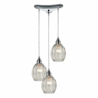 ELK Danica 3 Light Pendant in Polished Chrome EK-46017-3