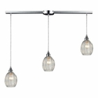 ELK Danica 3 Light Pendant in Polished Chrome EK-46017-3L