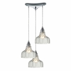 ELK Danica 3 Light Pendant in Polished Chrome EK-46018-3