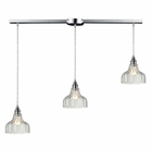 ELK Danica 3 Light Pendant in Polished Chrome EK-46018-3L