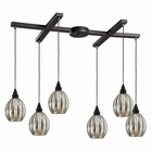 ELK Danica 6 Light Pendant in Oiled Bronze EK-46007-6
