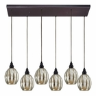 ELK Danica 6 Light Pendant in Oiled Bronze EK-46007-6RC