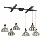 ELK Danica 6 Light Pendant in Oiled Bronze EK-46008-6
