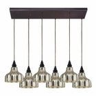 ELK Danica 6 Light Pendant in Oiled Bronze EK-46008-6RC