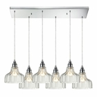 ELK Danica 6 Light Pendant in Polished Chrome EK-46018-6RC