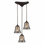 ELK Darien 3 Light Pendant in Oiled Bronze EK-46000-3