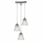 ELK Darien 3 Light Pendant in Polished Chrome EK-46010-3