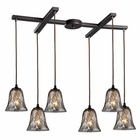 ELK Darien 6 Light Pendant in Oiled Bronze EK-46000-6