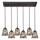 ELK Darien 6 Light Pendant in Oiled Bronze EK-46000-6RC