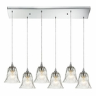 ELK Darien 6 Light Pendant in Polished Chrome EK-46010-6RC