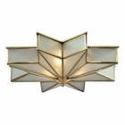 ELK Decostar Collection 3 Light Flushmount in Brushed Brass EK-22011-3