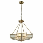 ELK Decostar Collection 4 Light Pendant in Brushed Brass EK-22012-4