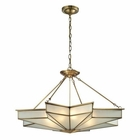 ELK Decostar Collection 8 Light Pendant in Brushed Brass EK-22013-8