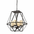 ELK Delaney 4 Light Pendant in Oil Rubbed Bronze EK-31187-4