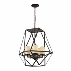 ELK Delaney 5 Light Pendant in Oil Rubbed Bronze EK-31188-5