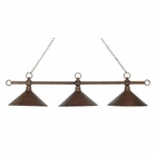 ELK Designer Classics 3-Light Billiard/Island in Antique Copper With Hand Hammered Iron Shades EK-182-AC-M2