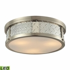 ELK Diamond Plate Collection 3 Light Flush Mount in Brushed Nickel - Led EK-31422-3-LED
