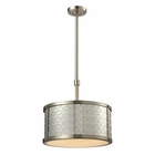 ELK Diamond Plate Collection 3 Light Pendant in Brushed Nickel EK-31424-3