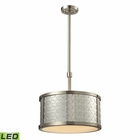ELK Diamond Plate Collection 3 Light Pendant in Brushed Nickel - Led EK-31424-3-LED