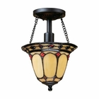 ELK Diamond Ring 1-Light Semi Flush in Burnished Copper EK-70089-1