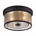 ELK Diffusion Collection 2 Light Flushmount in Oil Rubbed Bronze EK-57025-2