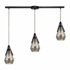 ELK Duncan 3 Light Pendant in Oil Rubbed Bronze EK-46172-3L