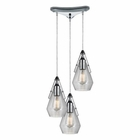 ELK Duncan  Light Pendant in Polished Chrome EK-46171-3