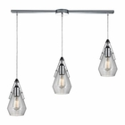 ELK Duncan  Light Pendant in Polished Chrome EK-46171-3L