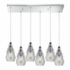 ELK Duncan  Light Pendant in Polished Chrome EK-46171-6RC