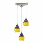 ELK Dunes 3 Light Pendant in Satin Nickel EK-31616-3