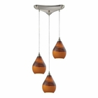 ELK Dunes 3 Light Pendant in Satin Nickel EK-31617-3