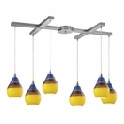 ELK Dunes 6 Light Pendant in Satin Nickel EK-31616-6