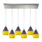 ELK Dunes 6 Light Pendant in Satin Nickel EK-31616-6RC