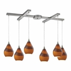 ELK Dunes 6 Light Pendant in Satin Nickel EK-31617-6