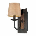 ELK Early American 1 Light Sconce in Colonial Maple and Vintage Rust EK-14130-1