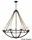ELK Eight Light Chandelier Natural Rope EK-63017