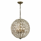 ELK Elizabethan  Collection 8 Light Pendant in Dark Bronze EK-15975-8