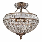 ELK Empire Collection 6 Light Semi Flush in Mocha EK-46045-6