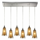 ELK Encapsulate 6 Light Pendant in Satin Nickel EK-31148-6RC