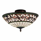 ELK English Ivy 3 Light Semi Flush in Tiffany Bronze EK-933-TB